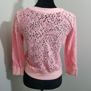 Free People Tops - We The Free Deconstructed Hole 3/4 Sleeve SZ M